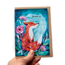 Kartka Walentynkowa Fox