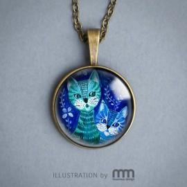 BLUE CAT naszyjnik