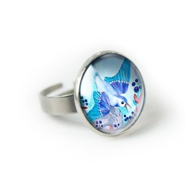 BLUEBERRY BIRD pierścionek