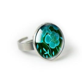 GREEN FLOWERS pierścionek