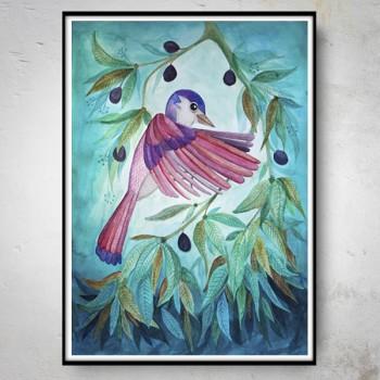 PINK BIRD Plakat