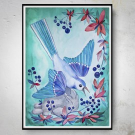 BLUEBERRY BIRD Plakat
