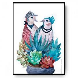 BIRDS IN LOVE ilustracja