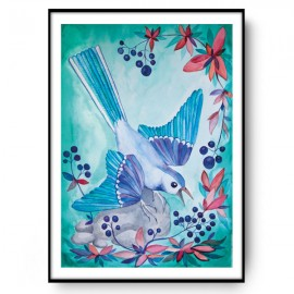 BLUEBERRY BIRD ilustracja