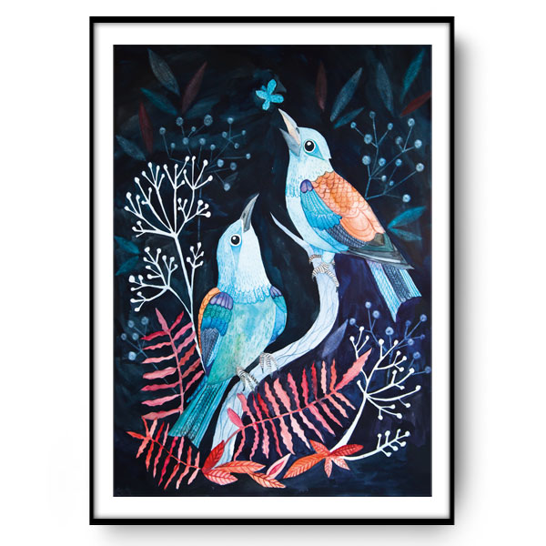NIGHT BIRDS ilustracje