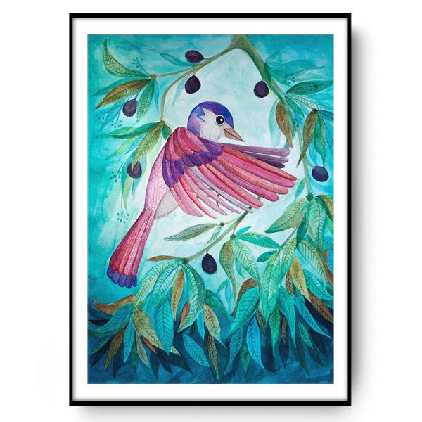 PINK BIRD ilustracja