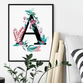 Litera A z ilustracją