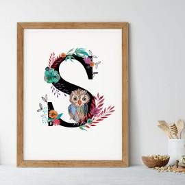 Litera S z ilustracją
